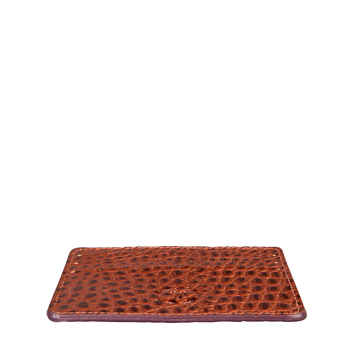Image 4 of the 'Marco' Chestnut Mock Croc Veg-Tanned Leather Wallet