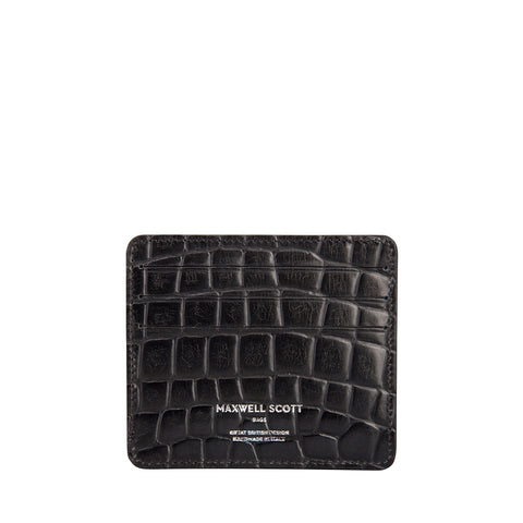 Image 2 of the 'Marco' Croco Black Veg-Tanned Leather Wallet