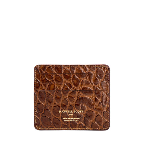 Image 2 of the 'Marco' Chocolate Croco Veg-Tanned Leather Wallet