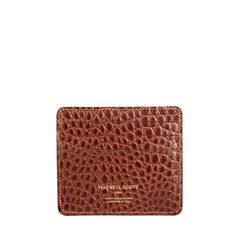 Image 2 of the 'Marco' Chestnut Mock Croc Veg-Tanned Leather Wallet