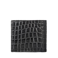 Image 2 of the 'Ticciano' Black Mens Mock Croc Wallet with Coin Pocket