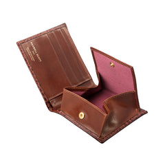 Image 6 of the 'Ticciano' Mock Croc Chestnut Veg-Tanned Leather Wallet with Coin Pocket