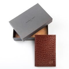 Image 5 of the 'Pianillo' Mock Croc Chestnut Veg-Tanned Leather Breast Wallet