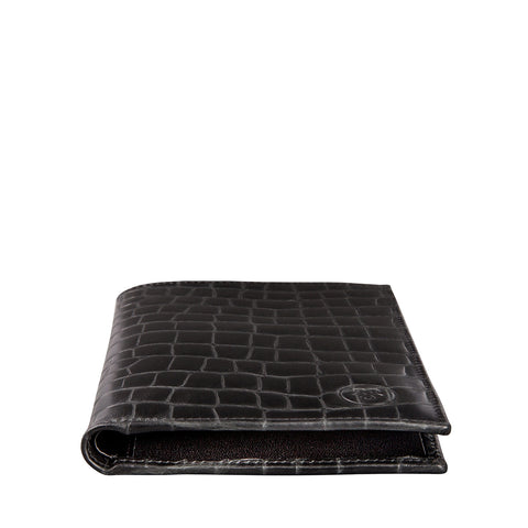 Image 2 of the 'Pianillo' Mock Croc Black Veg-Tanned Leather Breast Wallet