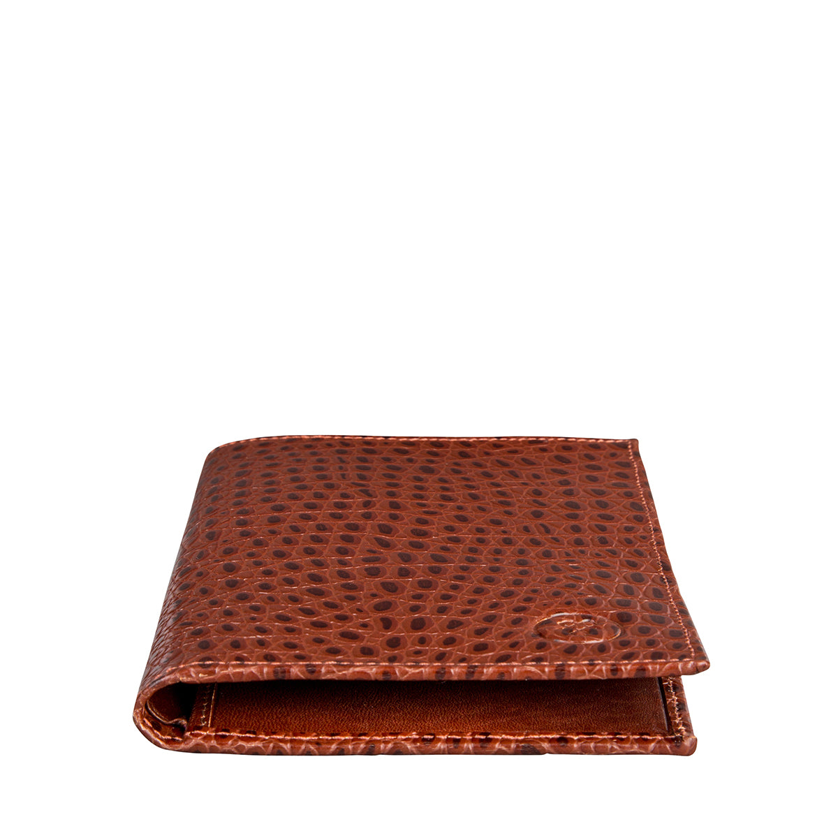 Image 2 of the 'Pianillo' Mock Croc Chestnut Veg-Tanned Leather Breast Wallet