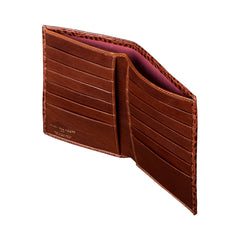 Image 3 of the 'Pianillo' Mock Croc Chocolate Veg-Tanned Leather Breast Wallet