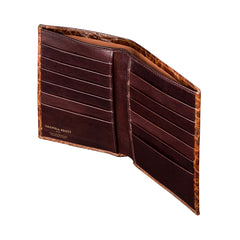 Image 4 of the 'Pianillo' Mock Croc Chestnut Veg-Tanned Leather Breast Wallet