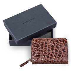 Image 6 of the 'Forino' Chocolate Mock Croc Veg Tanned Leather Purse