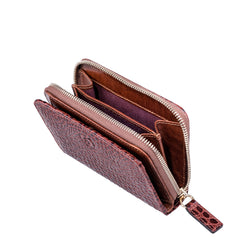 Image 2 of the 'Forino' Chestnut Mock Croc Veg Tanned Leather Purse