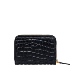 Image 3 of the 'Forino' Black Mock Croc Veg Tanned Leather Purse