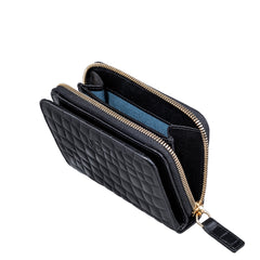 Image 2 of the 'Forino' Black Mock Croc Veg Tanned Leather Purse