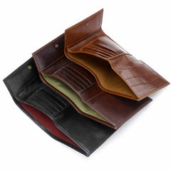 Image 6 of the 'Cetona' Black Veg-Tanned Multipurpose Wallet