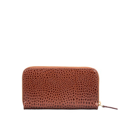Image 3 of the 'Giorgia' Chestnut Mock Croc Veg-Tanned Leather Zip Purse