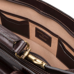 Image 6 of the 'Alanzo' Brown Veg-Tanned Leather Briefcase
