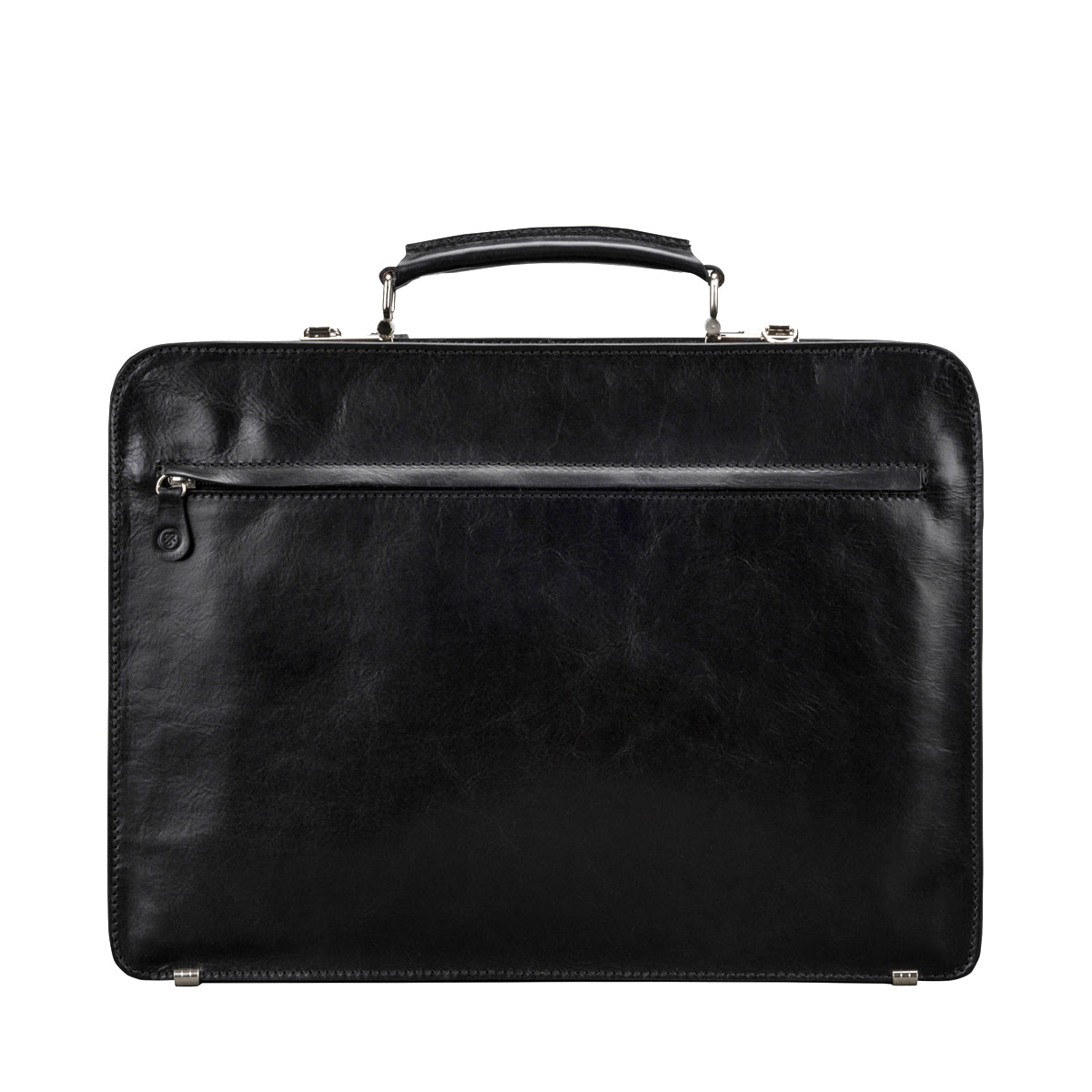 Image 4 of the Alanzo' Black Veg-Tanned Leather Briefcase