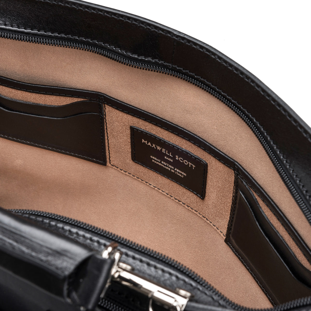 Image 6 of the Alanzo' Black Veg-Tanned Leather Briefcase