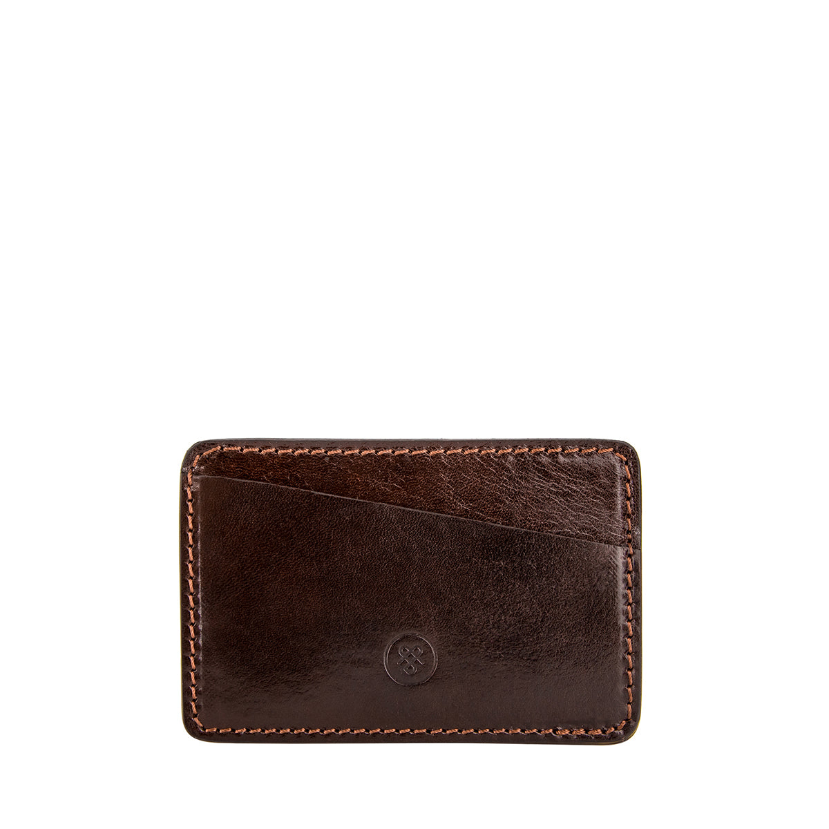 Image 2 of the 'Max' Luxury Brown Leather Card Case