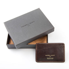 Image 7 of the 'Max' Luxury Brown Leather Card Case