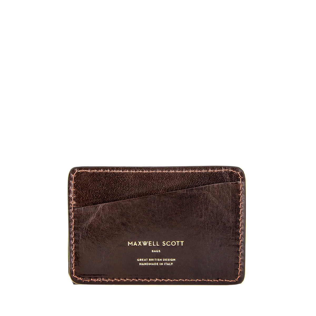 Image 1 of the 'Max' Luxury Brown Leather Card Case