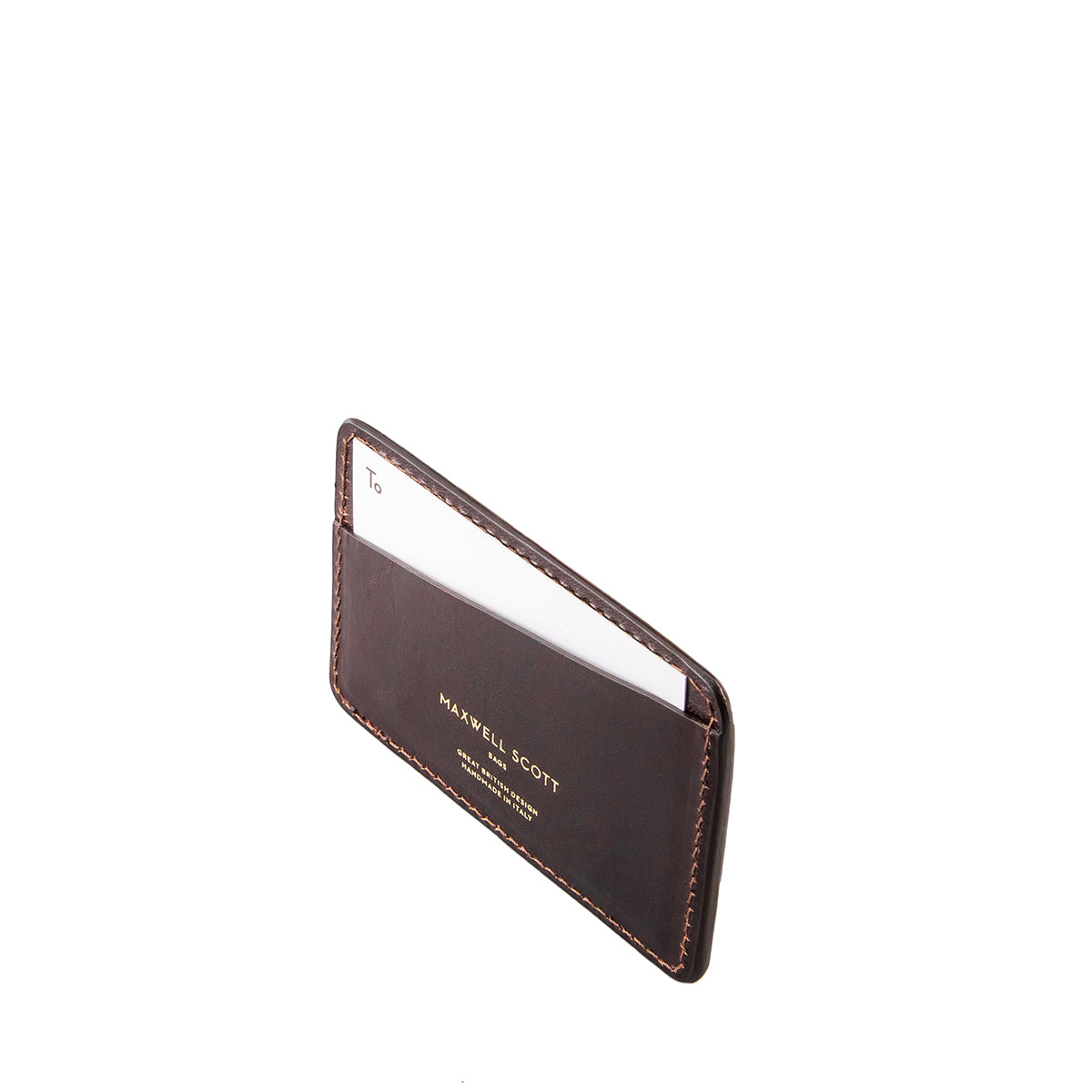 Image 4 of the 'Max' Luxury Brown Leather Card Case
