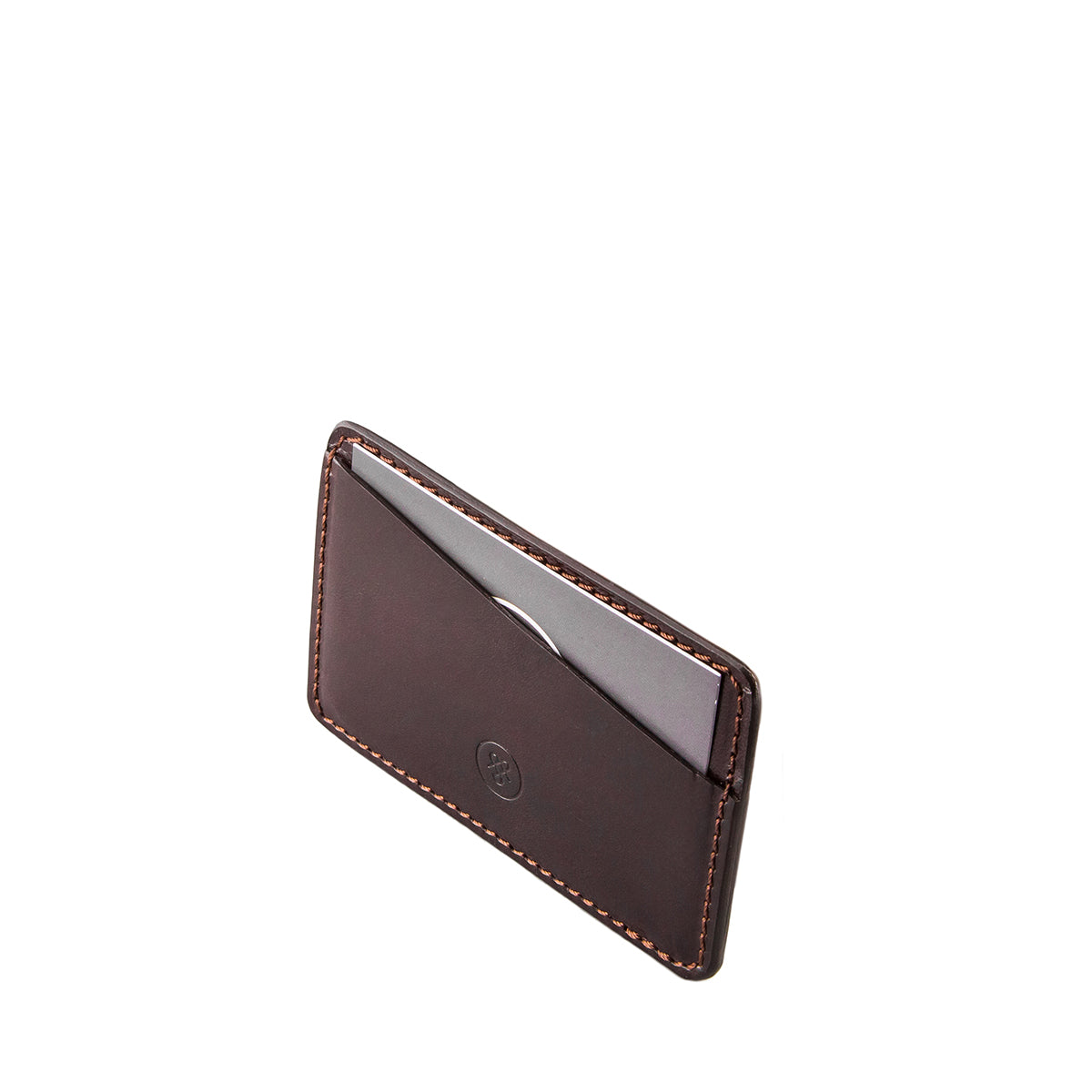 Image 3 of the 'Max' Luxury Brown Leather Card Case