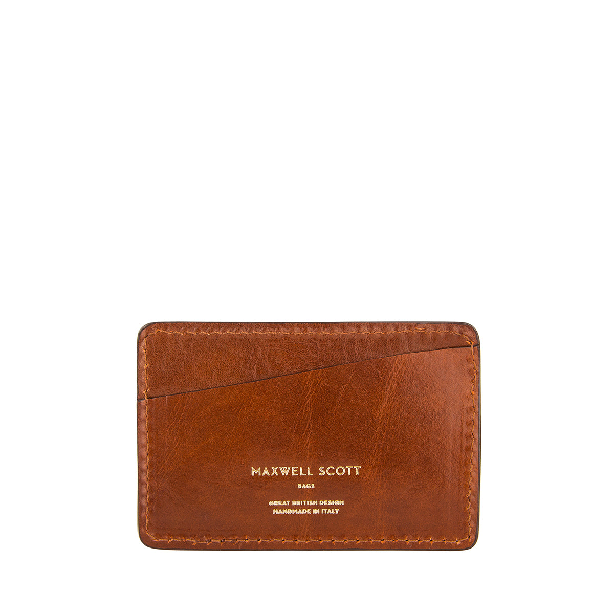 Image 1 of the 'Max' Tan Leather Business Card Holder