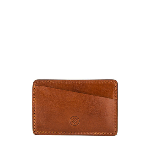 Image 2 of the 'Max' Tan Leather Business Card Holder