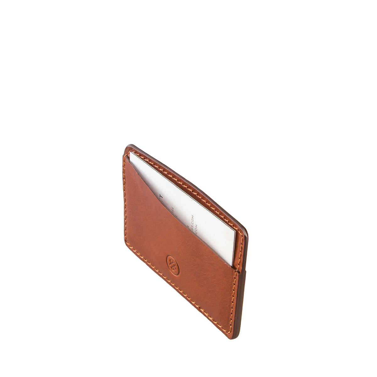 Image 3 of the 'Max' Tan Leather Business Card Holder