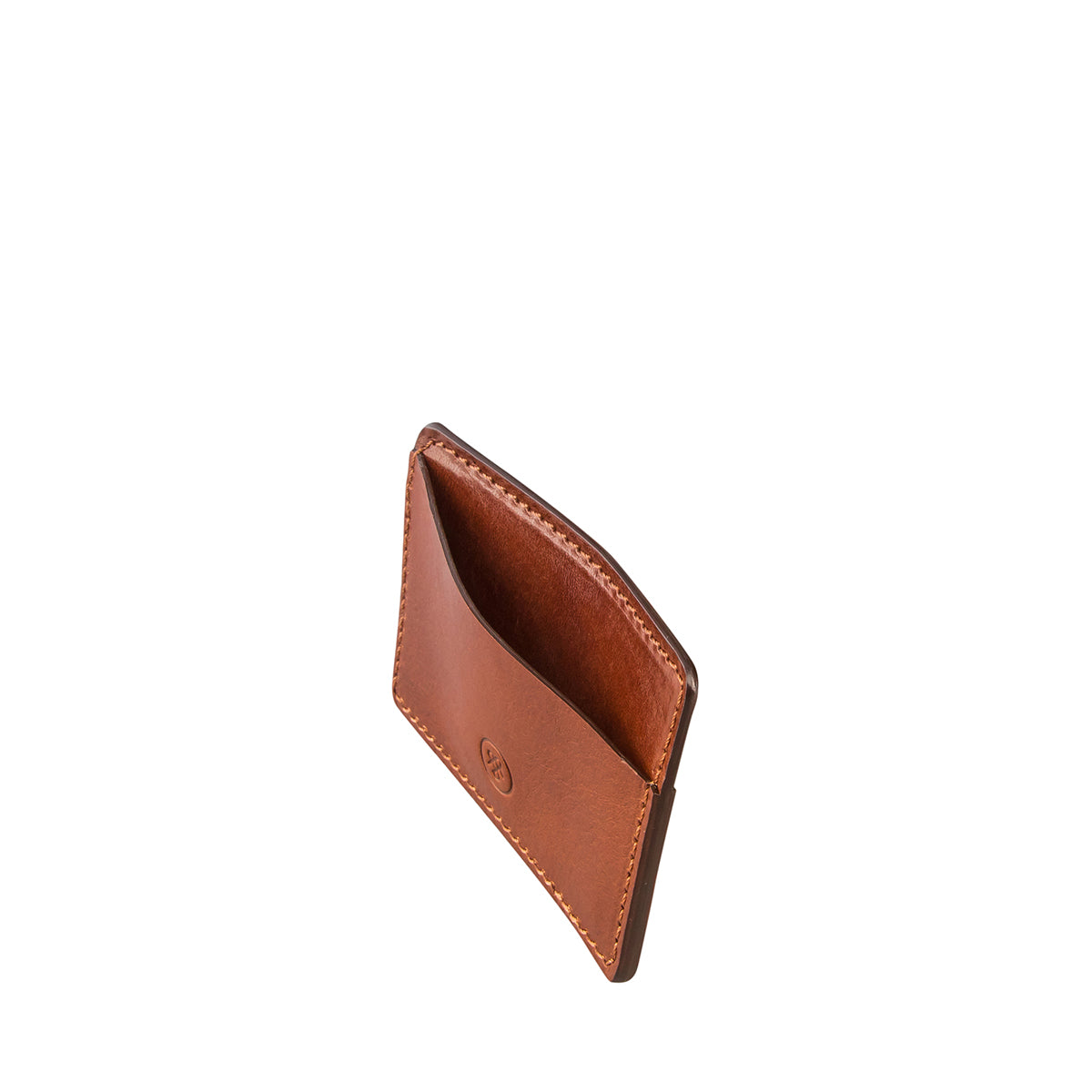 Image 4 of the 'Max' Tan Leather Business Card Holder