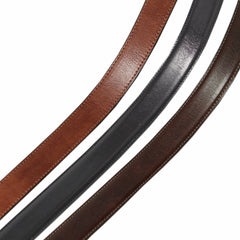 Image 5 of the 'Gianni' Chestnut Veg-Tanned Leather Handmade Belt