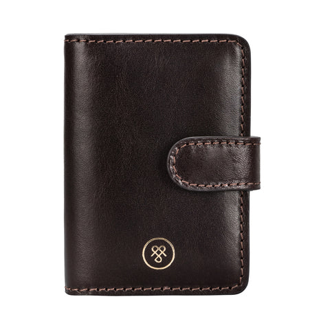 Image 1 of the 'Alvito' Chocolate Leather Mini Pocket Diary