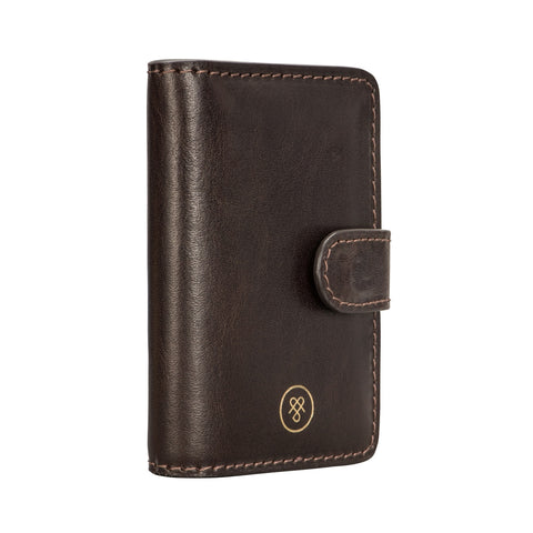 Image 2 of the 'Alvito' Chocolate Leather Mini Pocket Diary