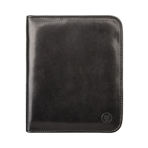 Image 2 of the 'Atella' Black Veg-Tanned Leather Watch Presentation Case