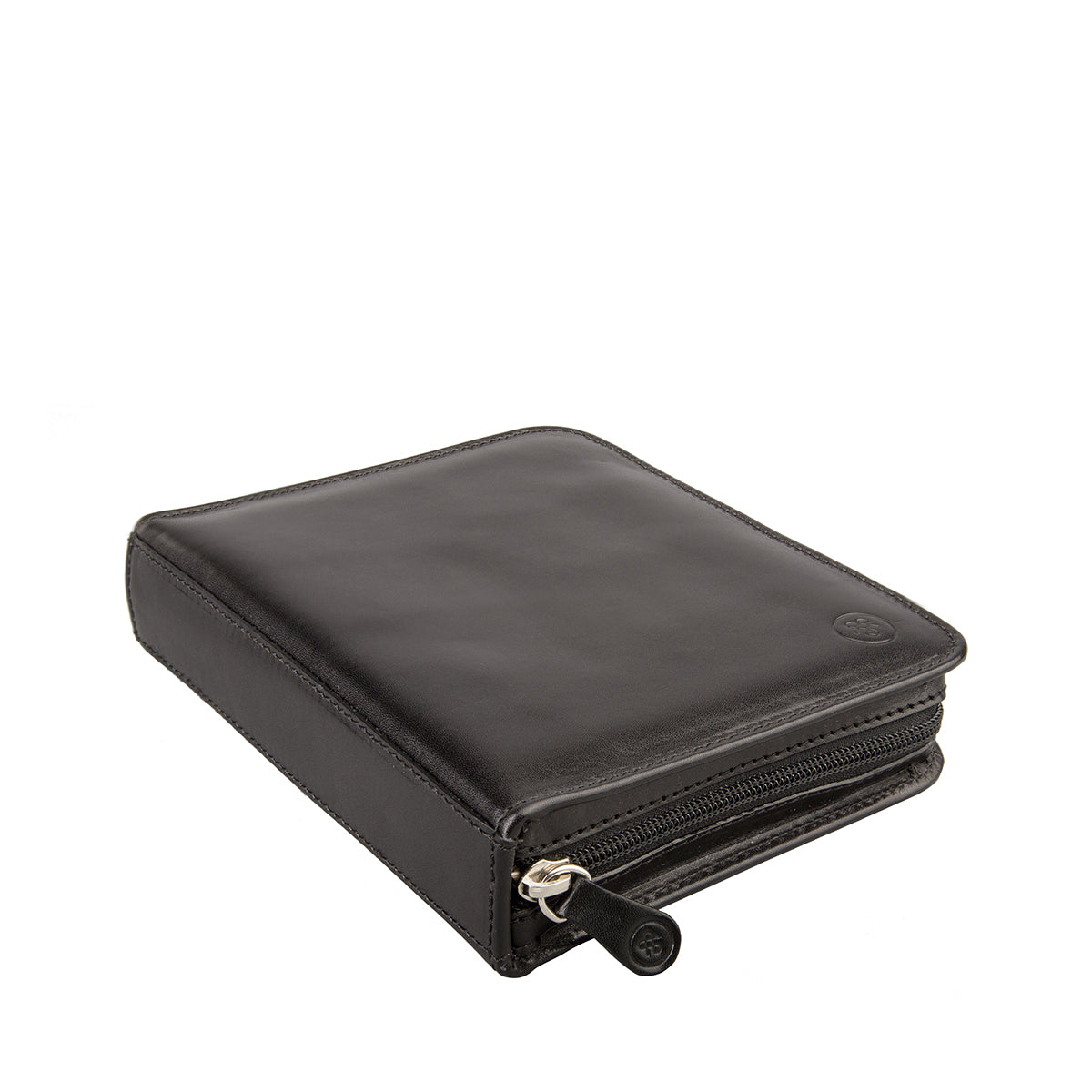 Image 4 of the 'Atella' Black Veg-Tanned Leather Watch Presentation Case