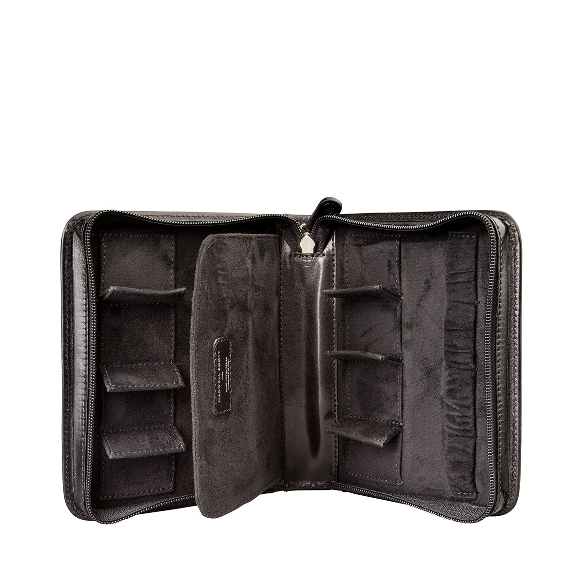 Image 1 of the 'Atella' Black Veg-Tanned Leather Watch Presentation Case
