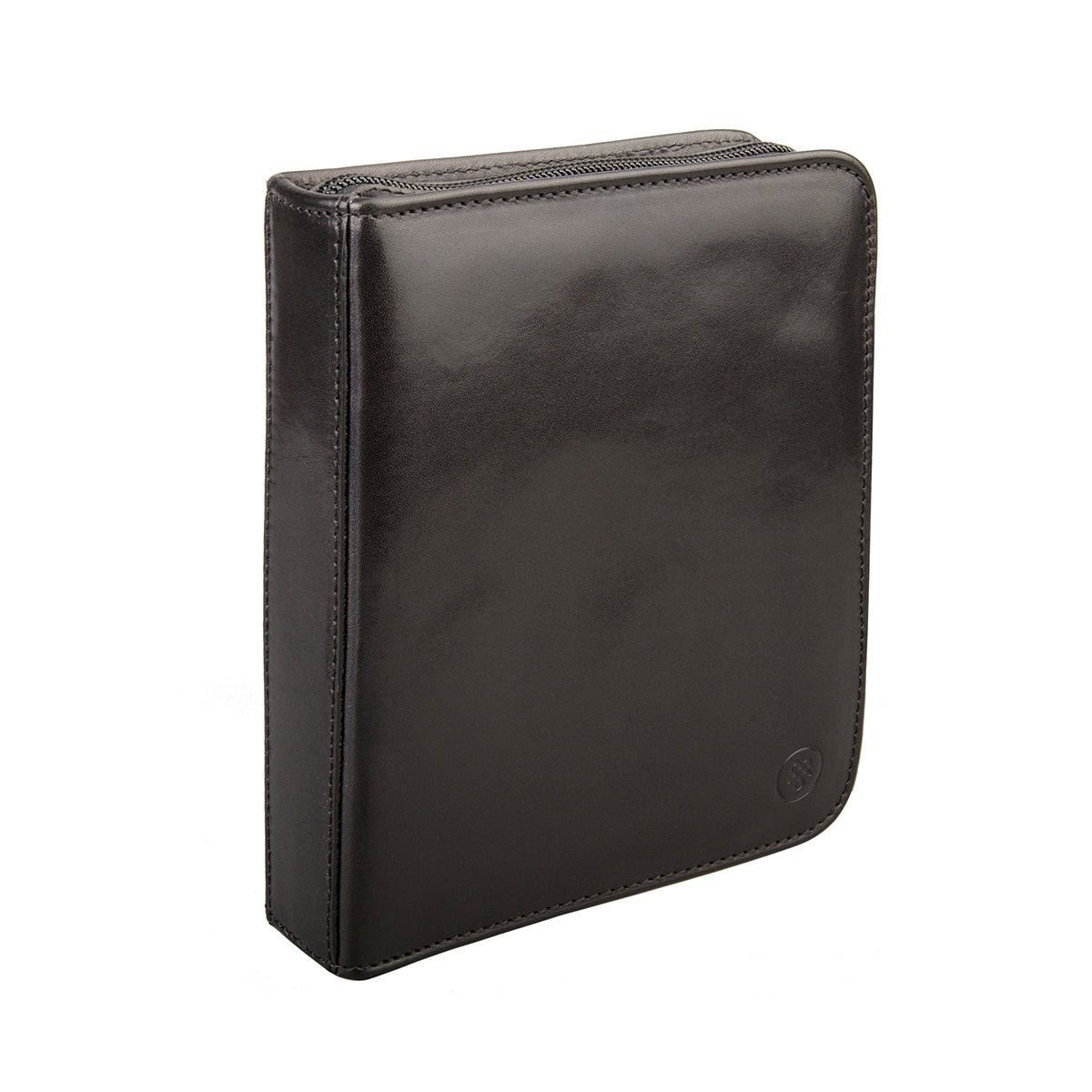 Image 3 of the 'Atella' Black Veg-Tanned Leather Watch Presentation Case