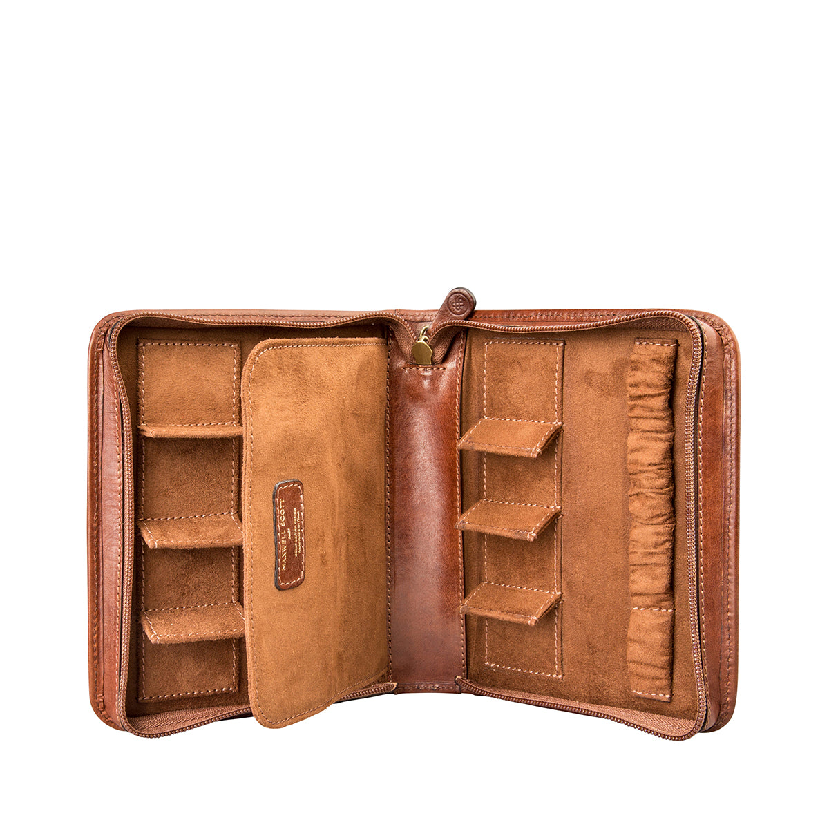 Image 1 of the 'Atella' Chestnut Veg-Tanned Leather Watch Presentation Case