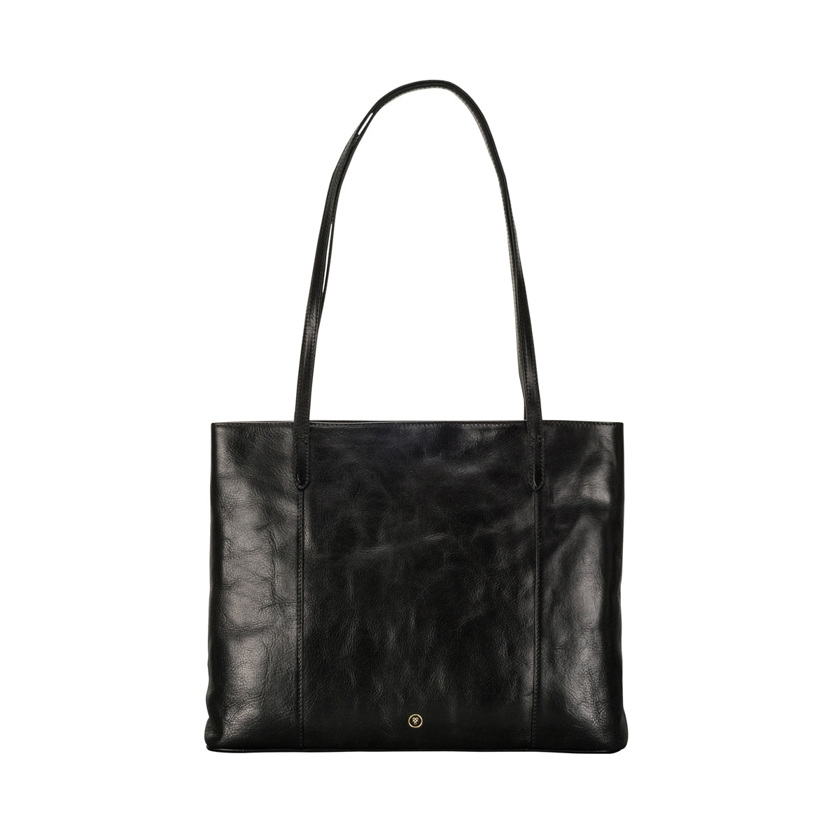 Image 1 of the 'Athenea' Black Veg-Tanned Leather Shopper