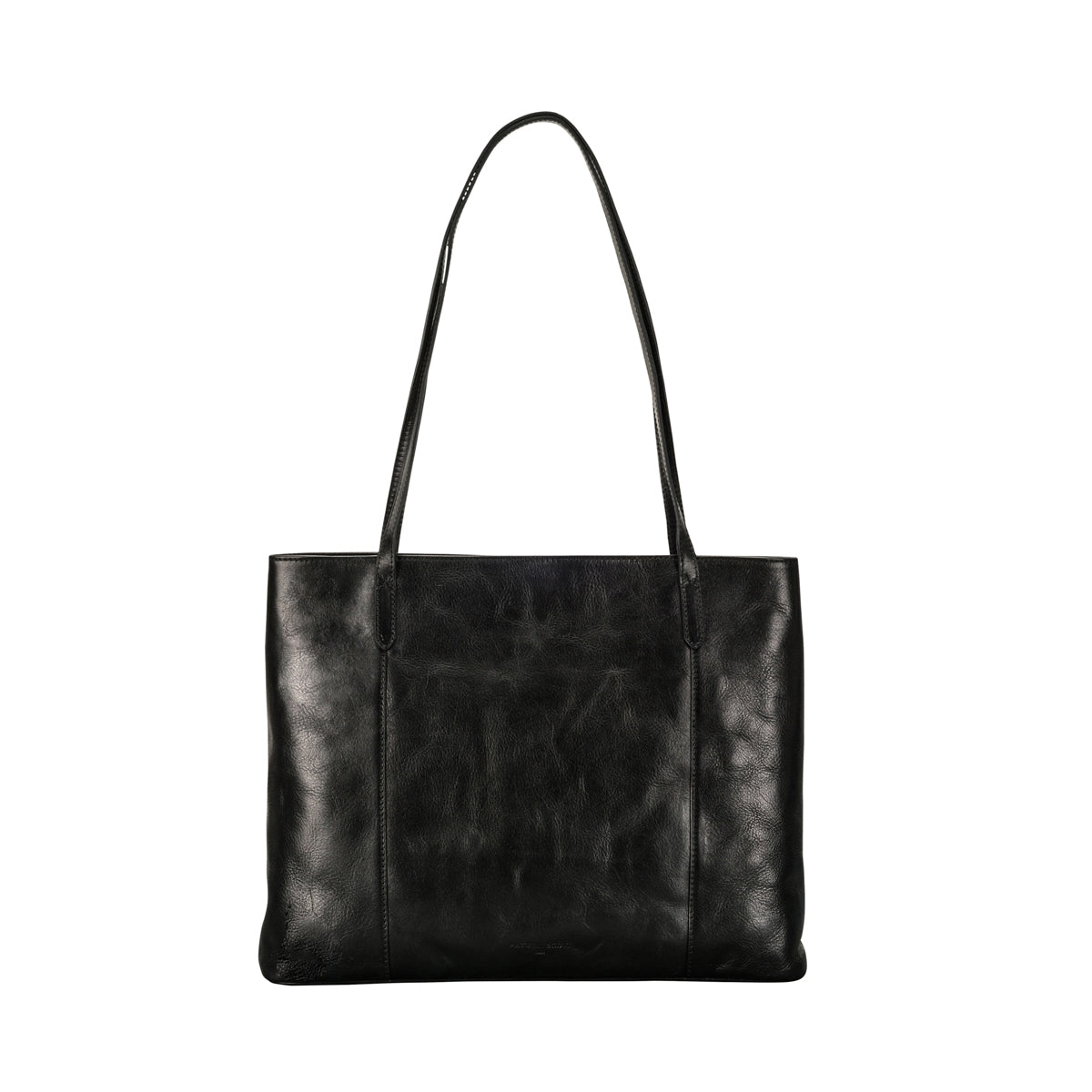 Image 4 of the 'Athenea' Black Veg-Tanned Leather Shopper