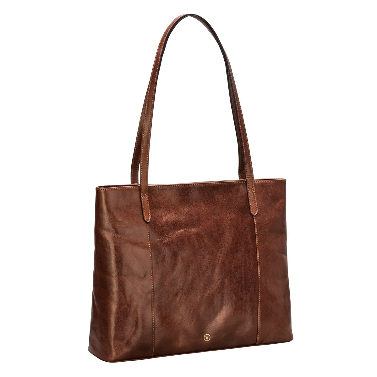 Image 2 of the 'Athenea' Chestnut Veg-Tanned Leather Shopper