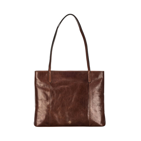 Image 1 of the 'Athenea' Chestnut Veg-Tanned Leather Shopper