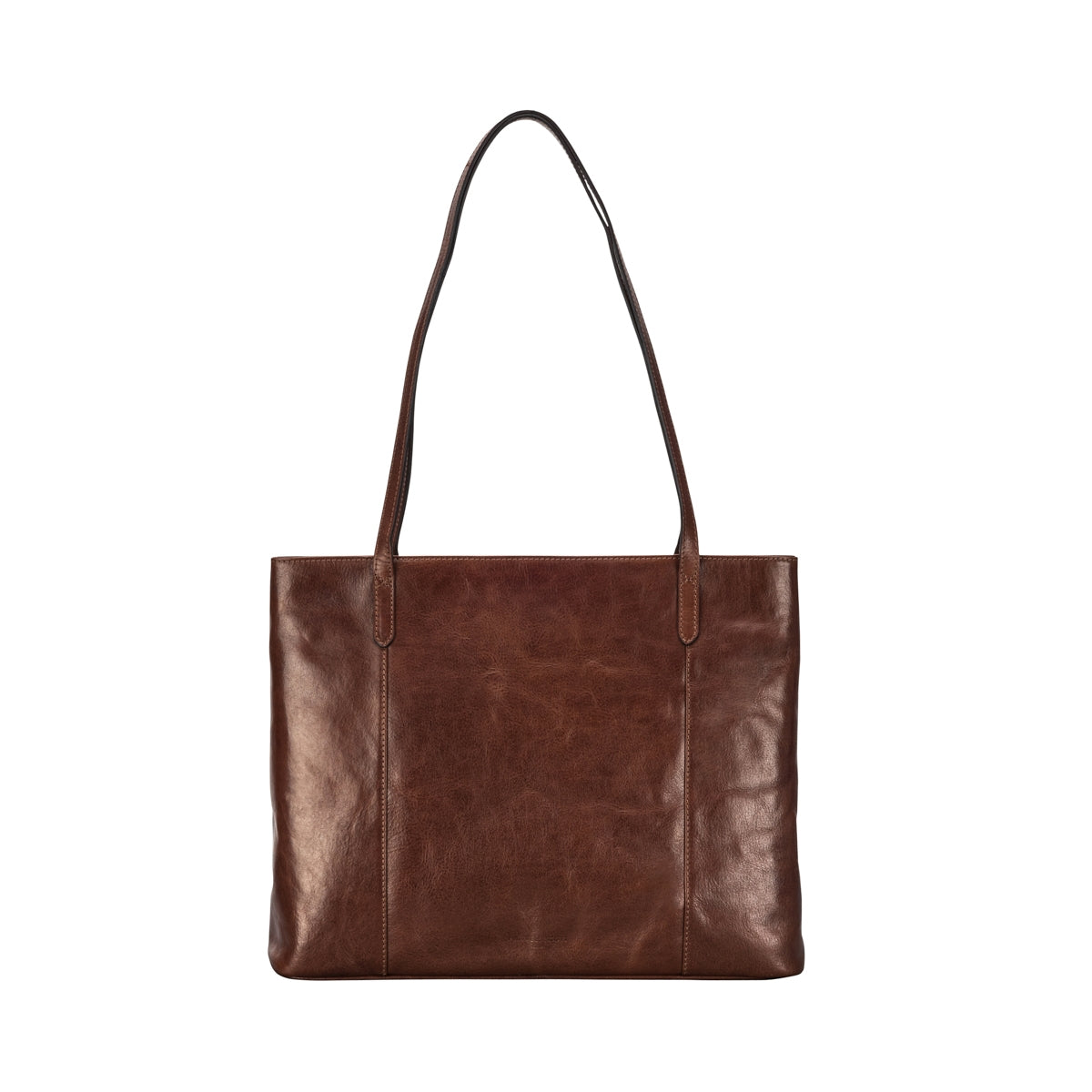 Image 4 of the 'Athenea' Chestnut Veg-Tanned Leather Shopper
