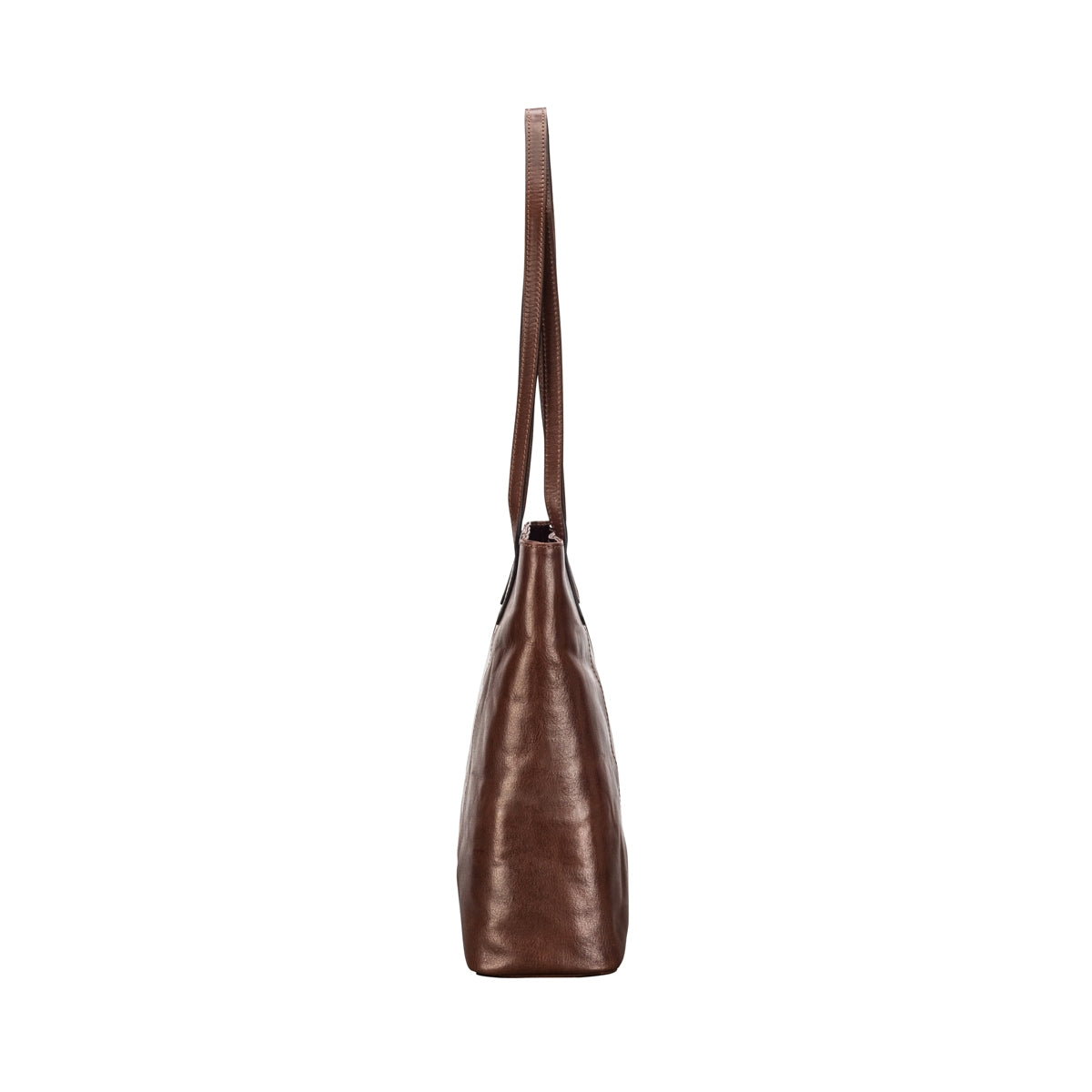 Image 3 of the 'Athenea' Chestnut Veg-Tanned Leather Shopper