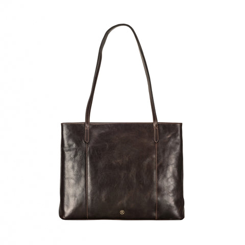 Image 1 of the 'Athenea' Dark Chocolate Veg-Tanned Leather Shopper