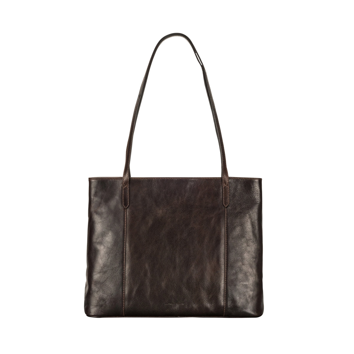 Image 4 of the 'Athenea' Dark Chocolate Veg-Tanned Leather Shopper