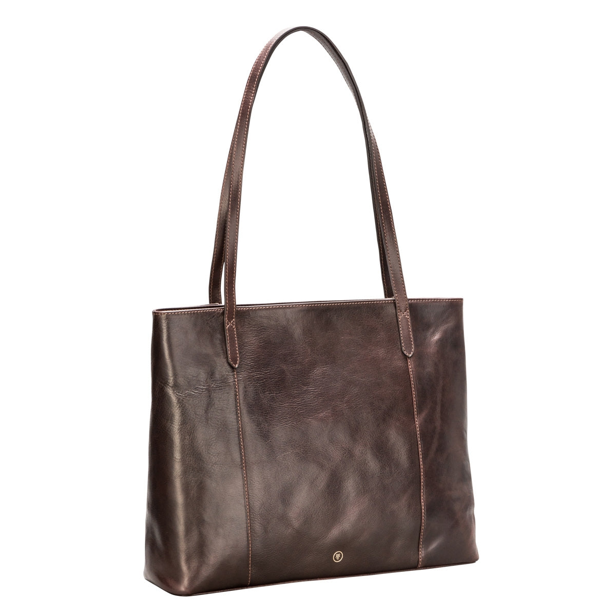 Image 2 of the 'Athenea' Dark Chocolate Veg-Tanned Leather Shopper