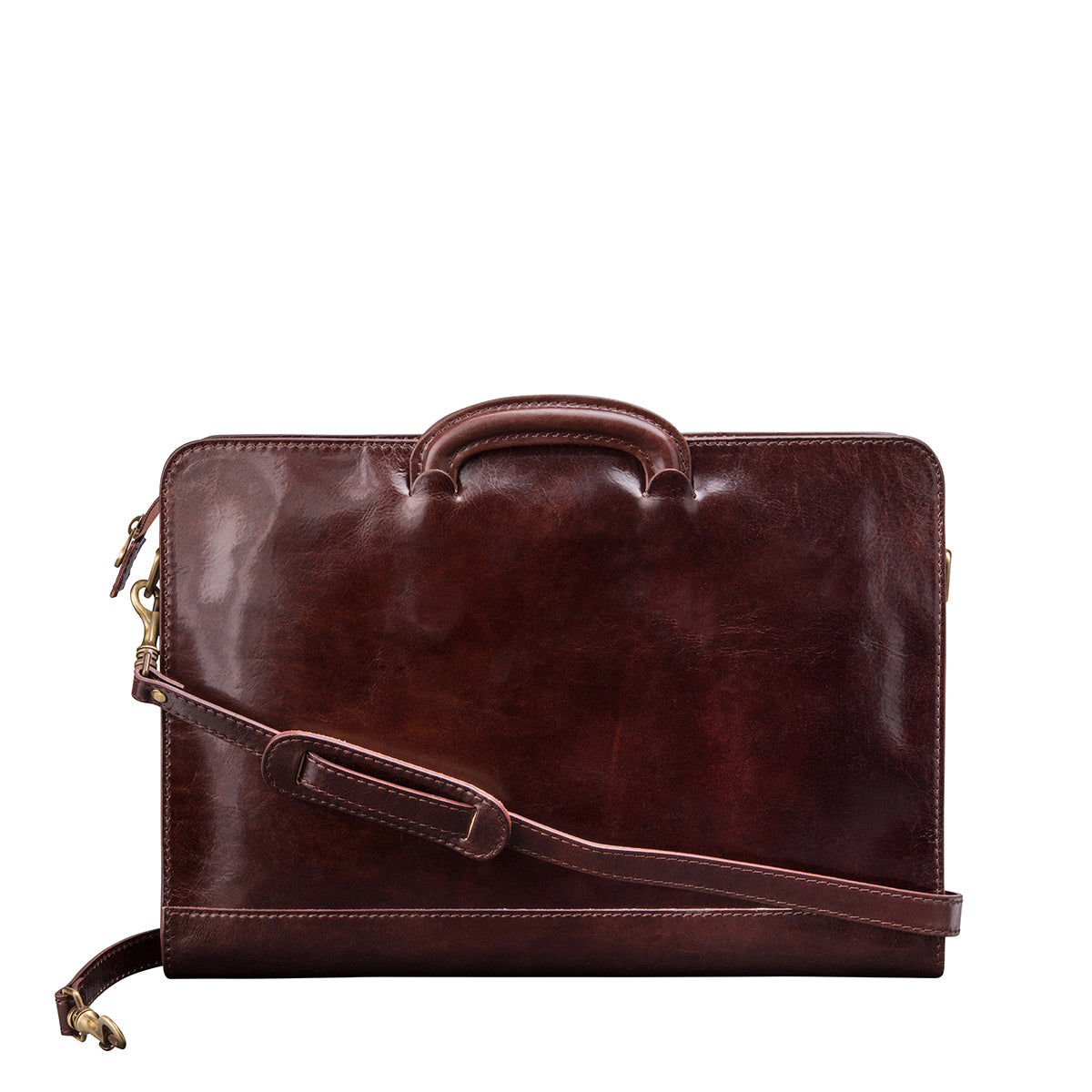 Image 3 of the 'Barolo' Dark Chocolate Veg-Tanned Leather Prestige Folder