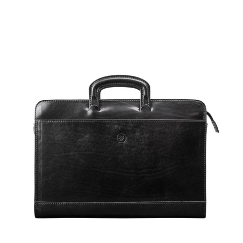 Image 1 of the 'Barolo' Black Veg-Tanned Leather Prestige Folder