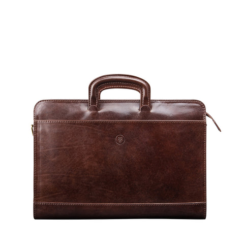 Image 1 of the 'Barolo' Dark Chocolate Veg-Tanned Leather Prestige Folder