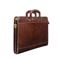 Image 2 of the 'Barolo' Dark Chocolate Veg-Tanned Leather Prestige Folder